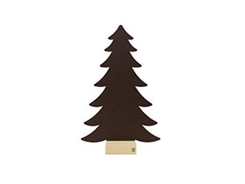 Kalamitica Plaque métallique Châtaigne de Sapin avec pied en bois pour magnétique Casseroles de, écriture, 38 x 58 cm comme décoration murale ou le rangement, 25038–806–002