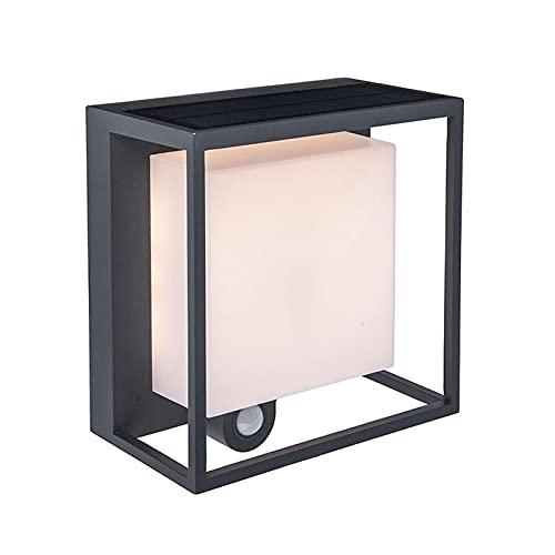 YXLMAONY Lámpara de Pared LED de Aluminio Fundido a presión de inducción del Cuerpo Humano Creativo Moderno, Ajuste del Modo de Tercera Marcha, Accesorio de iluminación de la Pared Exterior del Patio