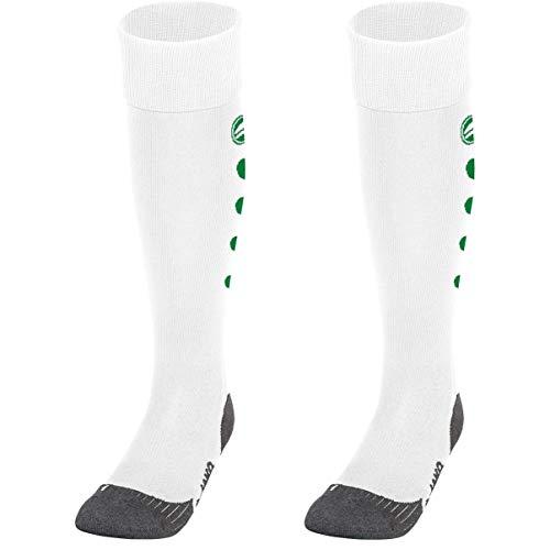 JAKO Unisex Roma Socken, Weiß, 3 (35-38)