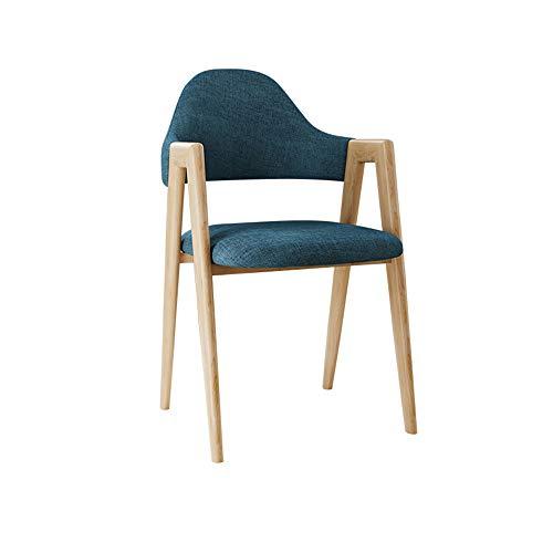 Mao-stoel in Noordse stijl, bureaustoel, modern, elegant, met rugleuning voor koffie, eenpersoonsbed voor vrije tijd, kleur: