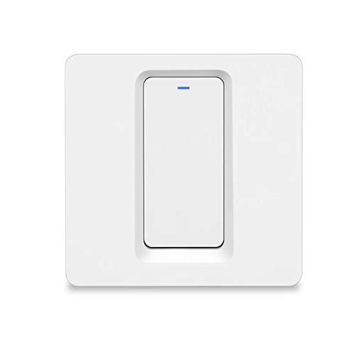 BlumWay WiFi Smart Wireless Lichtschalter, einfache Installation in der Wand, kein Hub erforderlich, kompatibel mit Alexa Echo und Google Assistant (Lichtschalter - 1 Gang)