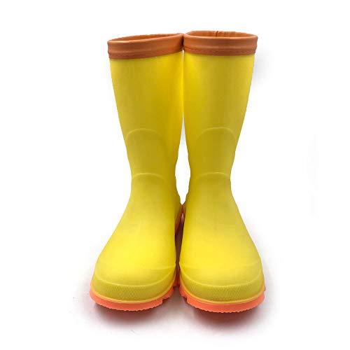 [アモジ]キッズレインシューズレインブーツ雨靴長靴ながぐつこども子どもベビーガールズジュニア女の子男の子ボーイズ子供レディースYXTY16イエロー18cm