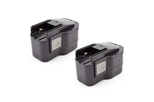 vhbw 2x NiMH batterie 1500mAh (12V) pour outil électrique outil Powertools Tools Milwaukee PES 12 T, PJX 12PP, PLD 12 X, PN 12PP, PPS 12PP, PSG 12PP