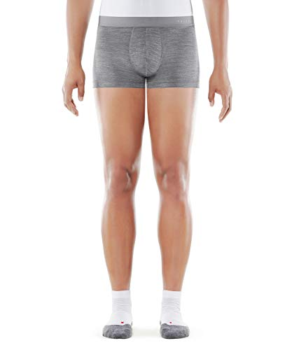 FALKE Herren Silk Wool M BX Boxer, Grau (Grey-Heather 3757), L