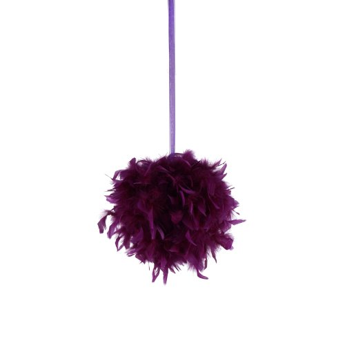 Zucker Plumes Products Chandelle Feather Pom Pom, 30,5 cm, Violet