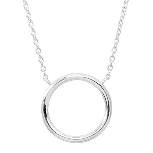 Silpada 'Karma' Open Circle Necklace in Sterling Silver, 18' + 2'