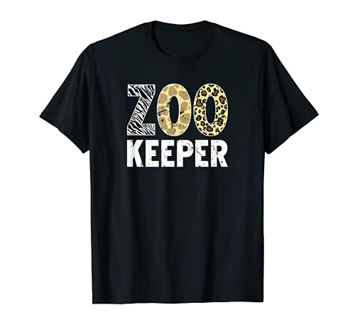 Cuidador del zoolgico de la jirafa de la cebra del safari Camiseta