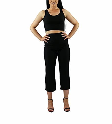 Italy Mode Conjunto de 2 piezas de camiseta y pantalón para mujer,...