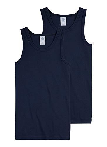 Sanetta Jungen Unterhemd im Doppelpack aus Bio-Baumwolle - Made in Europe - Neptun (50226), 164