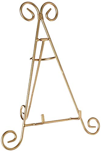 Darice 6555–04Dekorative Staffelei, 12Zoll, Gold