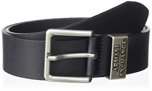 Armani Exchange Herren Cowboy Gürtel, Schwarz (Nero-Black 00020), 100|#676 (Herstellergröße: 38)