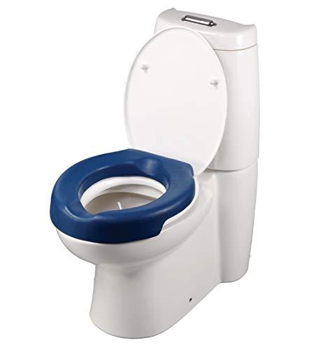 FabaCare Toilettensitzerhöhung Conti Soft, weicher Toilettenaufsatz, WC-Sitz blau, bis 100 kg, Höhe 5 cm