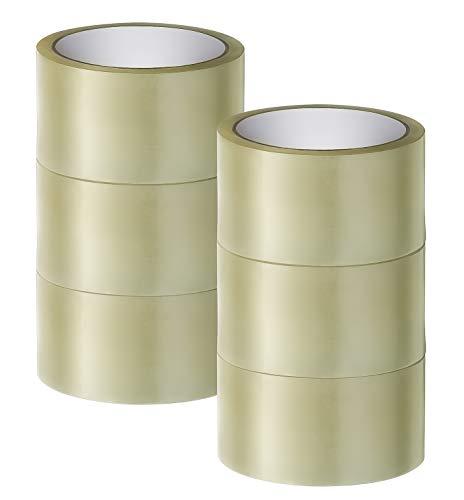 Paketklebeband transparent | 66m lang / 48mm breit | Top als Klebeband, Paketband, Packband transparent, Klebebänder & Befestigungsmittel | 6 Rollen | AllproPack (6)