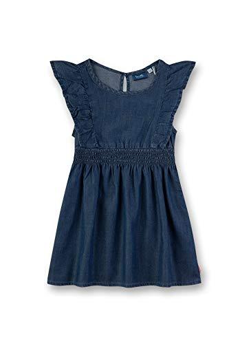Sanetta Mädchen Webstoff Kleid, Blau (Light Blue 9552), (Herstellergröße: 110)