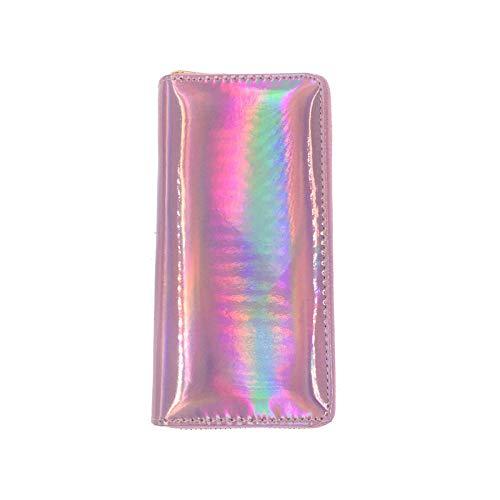 Portemonnee Geld Clip Polsband Coin Pocket portemonnee Pouch Organizers Cash Credit Protector Milieuvriendelijke Laser Pvc Lange Portemonnee Card Pakket Cosmetische Tas 1 roze