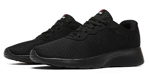 MAlITRIP All Black Tennis Shoes for Men Comfort Lightweight Fitness Sports Gym Training Workout Sneakers Size 9.5