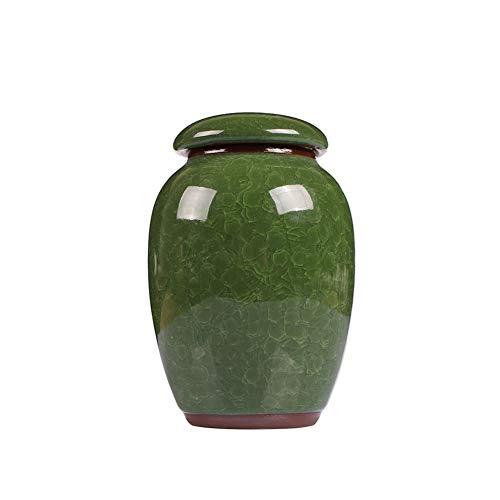 LILIS Särge, Urnen Mini Urne der Cremation, Urne for menschliche Asche Erwachsene,eine Vielzahl von Bonbonfarben Keramik,im Haus oder im Büro oder in Niche (Color : Malachite Green)