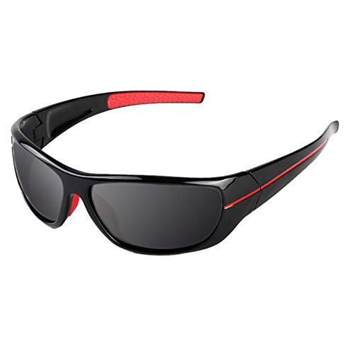 Gafas De Sol Polarizadas Hombre Y Mujer, UV400 Protection, Gafas Ligeras para Jugar Al Golf, Pescar, Esquiar, Andar En Bicicleta Y Correr,Rojo