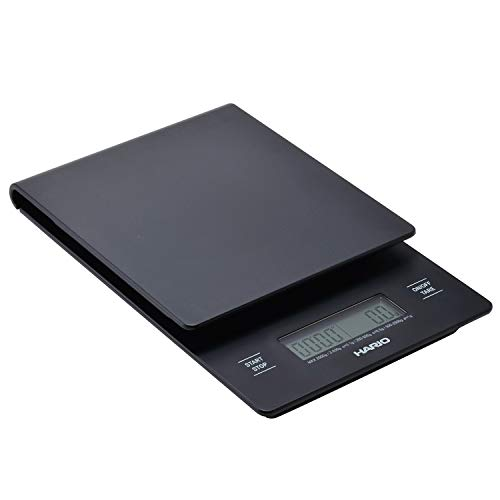 Hario V60 Drip Coffee Scale and Timer, One Size, Black (New Model)