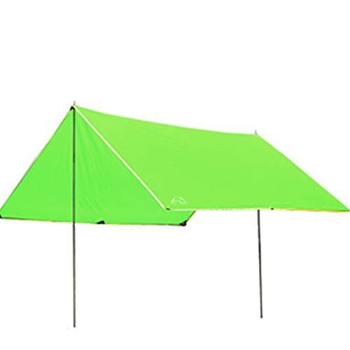 QuRRong Toldo de Refugio Toldos al Aire Libre Tabla Toldo Playa Techo Techo Toldo Equipo de Campamento para Senderismo Playa (Color : Verde, Size : 300x300x205cm)