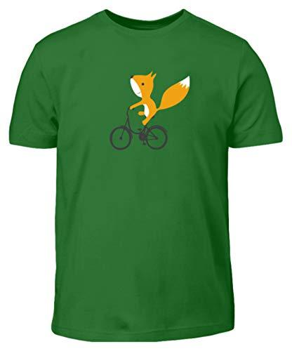 Shirtzshop - Maglietta per bambini con scoiattoli su bicicletta Kelly Verde (98 cm/104 cm)
