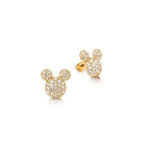 Disney Ohrstecker Mickey Maus vergoldet Glaskristall Pavé-Fassung