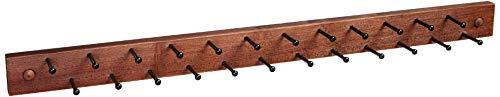 Spectrum Diversified 34480 Wooden Closet Storage 24-Peg Tie Belt Scarf Jewelry Rack Wall-Mounted Tie Rack Closet Organizer One Coffee