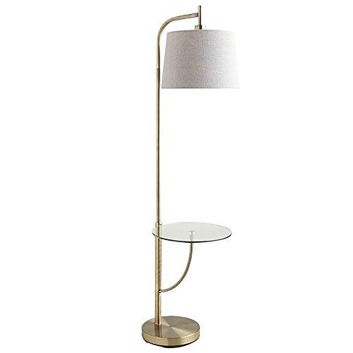 LightSei- Lampadaire Salon Creative Sofa Table Vertical Lampe nordique moderne américaine Lampadaire simple (Couleur : Blanc Abat)