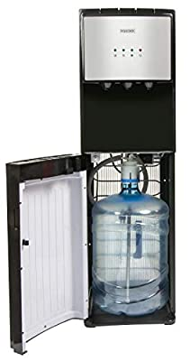 Igloo IWCBL353CRHBKS Stainless Steel Hot, Cold & Room Temperature Water Cooler Dispenser, Holds 3 & 5 Gallon Bottles, No Lift Bottom Loading, Child Safety Lock, Perfect For Homes, Kitchens, Offices