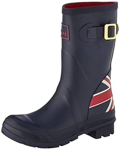 Joules Women's Molly Welly Rain Boot, Union Jack, 6 UK