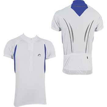 More Mile Short Sleeve Mens Cycling Jersey - White