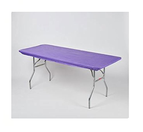 Kwik Covers 30' x 72' Purple Fitted Table Cover - Single