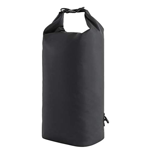 Compression Dry Sack - Zaino impermeabile con tracolla regolabile per rafting Drifting Kayak Escursionismo galleggiante, colore nero