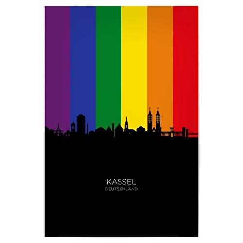 artboxONE Poster 120x80 cm Städte Kassel Germany Skyline Pride - Bild Kassel Cityscape Colorful
