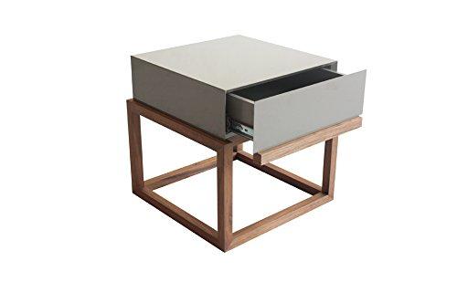 Design Wacim bijzettafel, gelakt, 39,6 x 39,6 x 40,5 cm, grijs