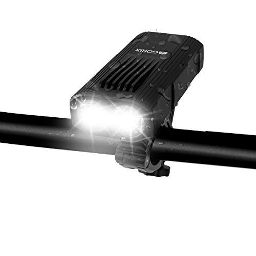 GORIX ゴリックス 自転車ライト 高防水 usb充電 高輝度LEDライト 明るい 盗難防止 ヘッドライト フロントラ...