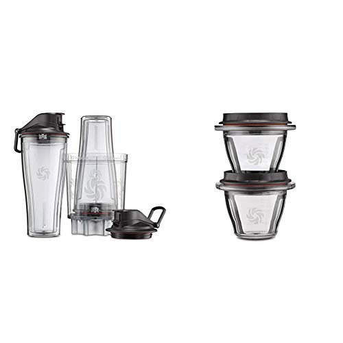 Vitamix Personal Cup Adapter - 61724 & Ascent Series Blending Bowls, 8 oz. with SELF-DETECT, Clear - 66192