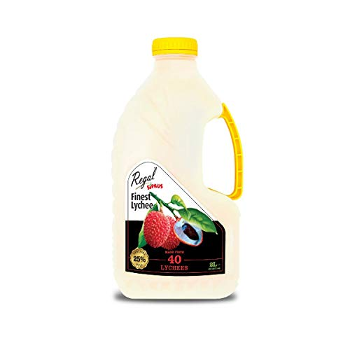 Regal Bakery Lychee 2LTR - Source of Antioxidants & Vitamins | Summer Drinks | Healthy Drinks On The Go - Healthy & Nutritious - Ready to Sip Juices | Energy Drink