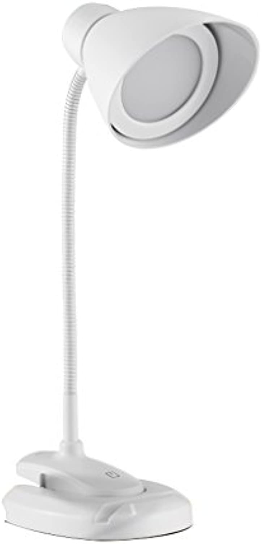 Eye Care Schreibtischlampe LED Clamp Touch, USB Powerot, 350 CM Kabel und 360 ° flexiblen Hals, 2 Arten von InsGrößetionsmodus für Schlafzimmer, OffIce, Wohnzimmer, Studio (Farbe   Wei)