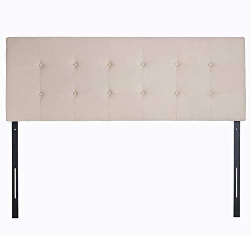 QZhommer Faux Linen Upholstered Full/Queen Size Headboard in Beige