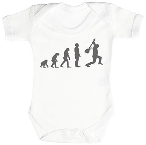 Baby Buddha Evolution to A Rockstar Body bébé - Gilet bébé - Naissance Blanc