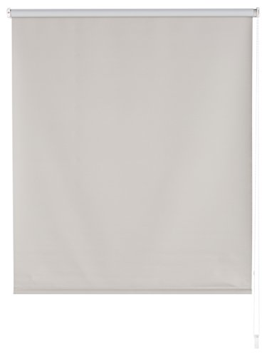 Blindecor - Estor enrollable 100% opaco, 100X175 cm, Gris plata