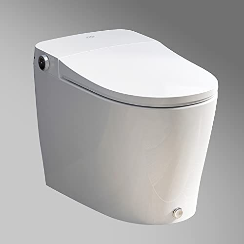 HOROW luxury Integrated Smart Toilet, Upgraded Automatic Power Flush One Piece Toilets with Bidet...