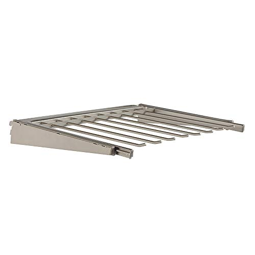 Closet Culture by Knape & Vogt 1.19 in. H x 23.44 in. W x 17.00 in. D Champagne Nickel Pants Rack Kit for Closet System, 24