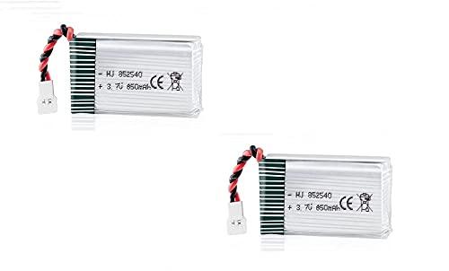 YUNIQUE Italia 2 Pezzi Batteria Lipo Ricaricabile (3.7v, 850 mAh Lipo) per Rc Droni Quadricotteri Syma X5SC X5SW