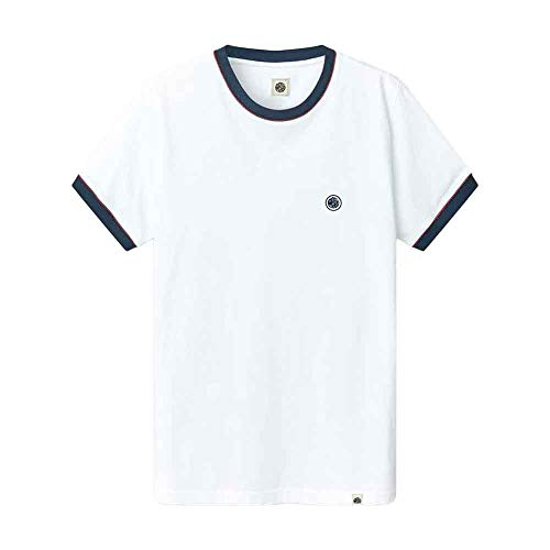 Pretty Green Tilby Ollier Tipped T-Shirt - White-XL