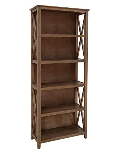 Amazon Brand – Stone amp Beam 5Shelf Bookcase 75quotH Weathered Oak Finish