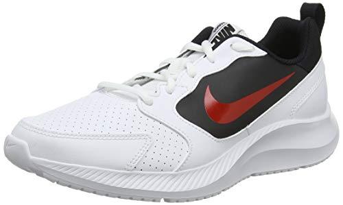 Nike Todos, Zapatillas de Entrenamiento para Hombre, Blanco (White/University Red/Black 101), 44 EU
