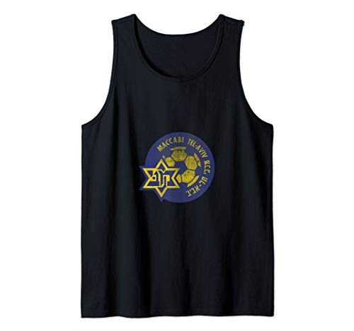 Maccabi Tel Aviv Sport FC Football club Israel Distressed Tank Top