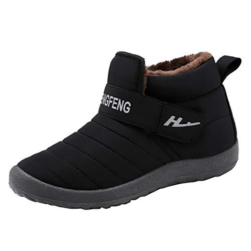 Luckycat Zapatillas de Estar Hombre Mujer Invierno Interior Exterior Zapatos Caliente de...